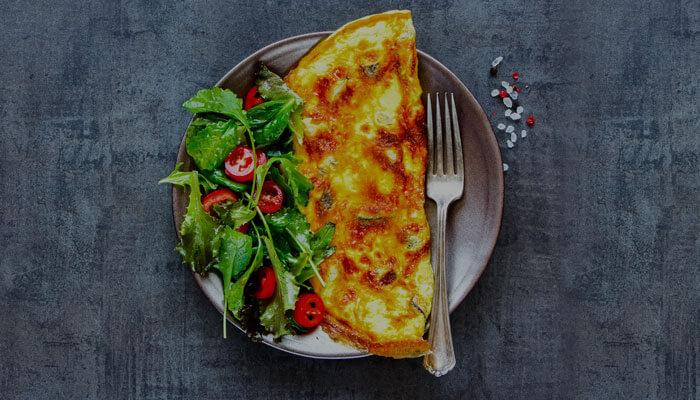Ispanaklı Mantarlı Omlet